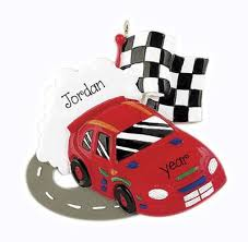 racing my personalized ornaments