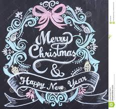 New Year Decoration On Blackboard by Merry Christmas Happy New Year Stock Illustration Image 56432569