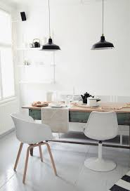 black white dining room minimalism scandinavian design