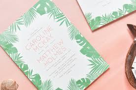 tropical wedding invitations tropical wedding invitation rectangle potrait white green floral