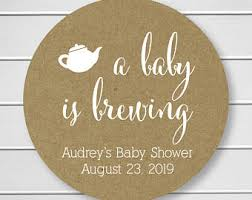 a baby is brewing baby brewing seal etsy