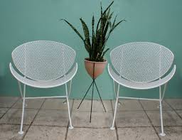 Mid Century Modern Patio Chairs Vintage 2 Mid Century Salterini Patio Chair Set Eames Era Mid
