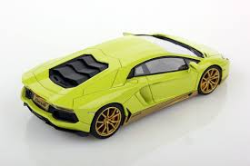 yellow and black lamborghini lamborghini aventador lp 700 4 miura homage 1 43 looksmart models