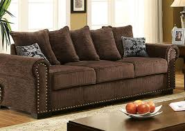 rightway furniture u0026 rental rydel brown chenille sofa w pillows