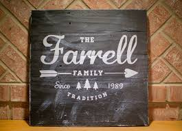 established family home decor sign reclaimed wood family name