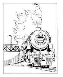Train And Rail Coloring Sheet Steam Locomotive Coloring Rail Color Page