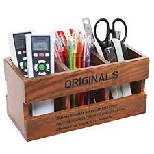 Wooden Desk Organizers Mygift Rustic Wood Desk Organizer 3 Compartment