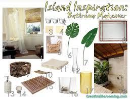 tropical bathroom ideas bathroom island tropical bathroom makeover moodboard 003