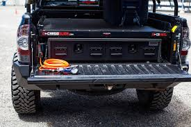 toyota tacoma truck bed defconbrix truckvault cargoglide bed storage solutions