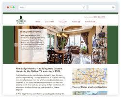 home builder website design in frisco tx pine ridge homes