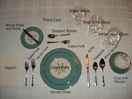 cheat sheet how to set a table formal dinner party places and