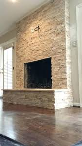 stacked stone fireplace decorating ideas diy surround veneer white