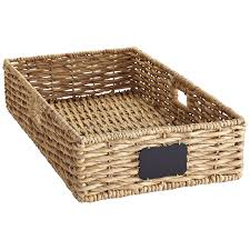 bryant underbed large wicker basket with chalkboard pier 1 imports