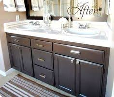 painting bathroom cabinets color ideas diy custom gray painted bathroom vanity from a builder grade