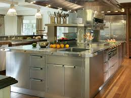 stainless steel top kitchen island brown oak wood kitchen cabinet