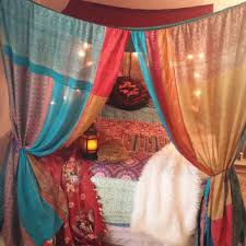 Bohemian Bed Canopy Boho Bed Canopy Hippie Hippy From Hippiewild On Etsy