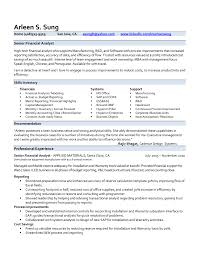 financial analyst resume example resume example and free resume