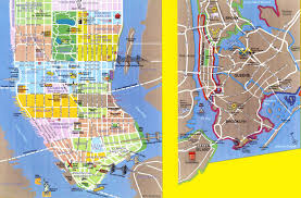 Usa Map New York City by Download Street Map Of New York City Major Tourist Attractions Maps