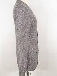 silver cardigan sweater crew grey metallic silver button cardigan sweater size l