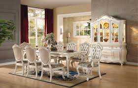 9 Piece Dining Room Set Chantelle Pearl White Finish Dining Table 7 Piece Set Ebay