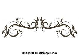 floral decorative ornament retro stylish design free vectors