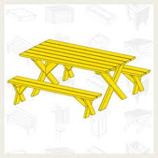 Plans For Picnic Table With Detached Benches by Picnic Table With Detached Benches Reception Areas Tables And
