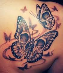 50 cool skull tattoos designs skull butterfly and