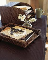 Desk Accessories Uk by Rattan A4 Paper Tray The Holding Company The Holding Company