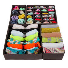 songmics foldable storage box bra underwear closet organizer