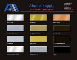 alumet anodized finishes color chart colour chart and creative