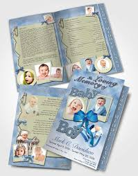 baby funeral program 2 page grad fold funeral program template brochure early morning