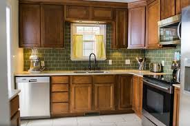 craftsman kitchen with subway tile u0026 l shaped in oklahoma city ok