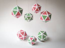 diy ornaments set of 7 printable a4 sized templates