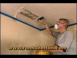Remove Painted Popcorn Ceiling by How To Remove A Popcorn Ceiling Youtube