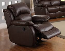Red Leather Reclining Chair Homelegance Mcgraw Rocker Recliner Chair In Bonded Leather 9887 1