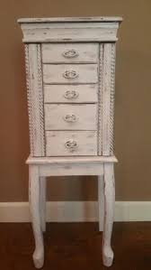 Shabby Chic Jewelry Armoire by Morris 5 Drawer Jewelry Armoire White Wash 37