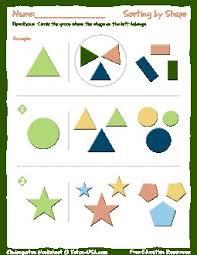 worksheet kindergarten sorting by shape sort objects by shape
