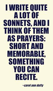 carol ann duffy on sonnets this quote courtesy of pinstamatic