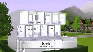 sims 3 modern minimalist house youtube sims 3 modern minimalist house