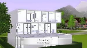 sims 3 modern minimalist house youtube