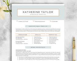 Free Awesome Resume Templates Resume Design Etsy