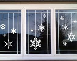 Christmas Window Decorations Snowflakes by Christmas Window Etsy
