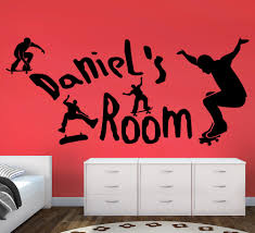 Wall Art Stickers by Personalised Skateboard Wall Stickers For Boys Room