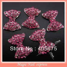 mns713 nails decorations new arrive zircon bow nail art 3d glitter