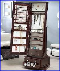 Shaker Style Armoire Jewelry Armoire Full Length Mirror U2013 Blackcrow Us