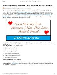 Trending Funny Text Messages To - good morning text messages him her love funny and friends