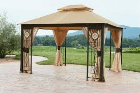 Outdoor Gazebo With Curtains by Grand Resort L Gz694pst E 10x12 Gazebo With Art Glass Panels