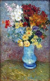 Pictures Of Vases With Flowers File Van Gogh Flowers In A Blue Vase June 1887 Jpg Wikimedia