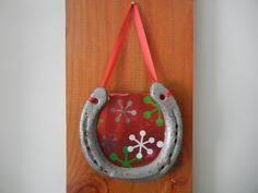 horseshoe christmas ornaments purple horseshoe hanging picture frame white ribbon christmas