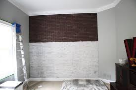 How To Paint A Brick Wall Exterior - faux brick walls kitchen tin backsplash for kitchen rock wall